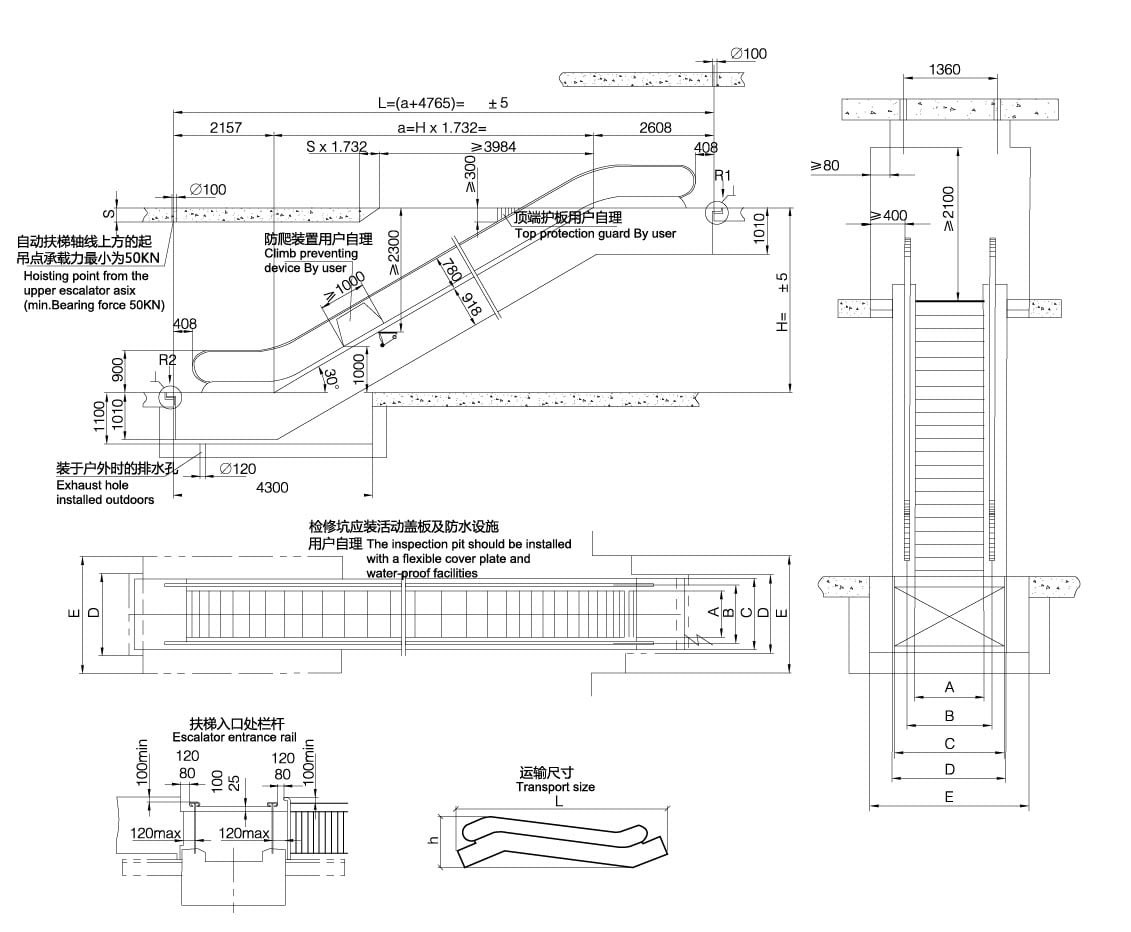 Moving Escalator Specifications